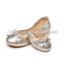 Sapatas da bailarina do rolo das meninas Sapatas de dança lisas extravagantes 2016 das senhoras
