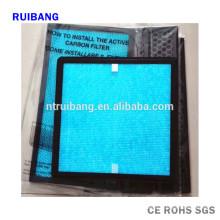 aire acondicionado de reemplazo de permeabilidad de aire superior filtro de aire de hepa y carbón activado