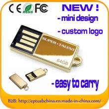 Mini Design USB Flash Drive Golden Metal memória USB (ED012)