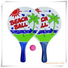Personalizar a raquete de praia de madeira com bola para promoção (OS05001)