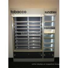 Loja de varejo Grande gabinete de exibição de iluminação LED com gaveta, cigarro de exibição comercial para venda