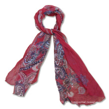 Ladies Long Fashion Printed Silk Scarf