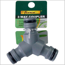 Garden Hose Fittings Hose Connector 3-Way ABS Quick Coupler
