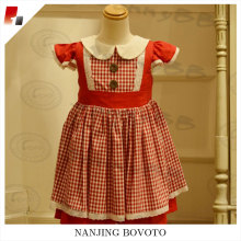 JannyBB red check flutter sleeve toddler dress