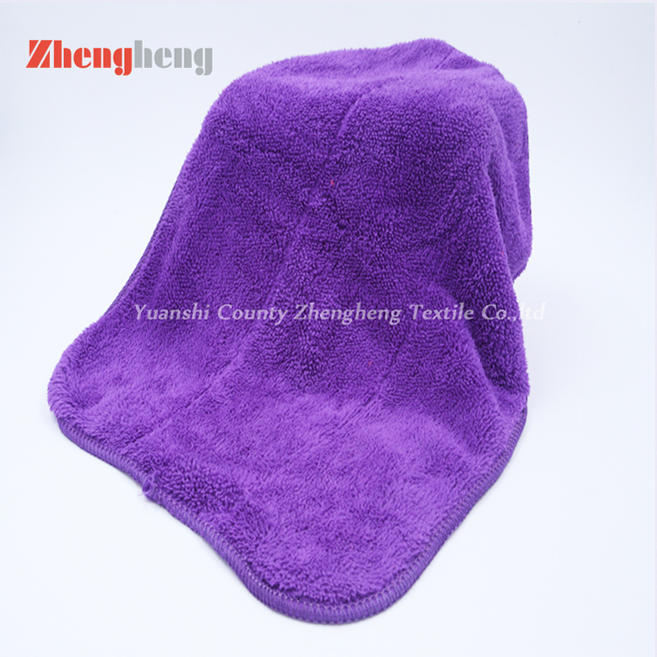 The Double Layers Polyester Coral Fleece Towel