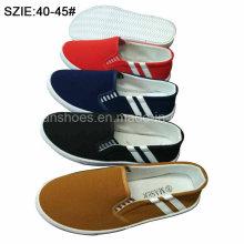Le plus bas prix des hommes glissent sur des chaussures de toile d'injection (MP16721-7)