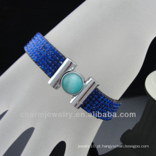 Novos estilos Pave Full Rhinestone Crystal Bracelet