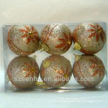 Cheap decorative glitter styrofoam christmas balls