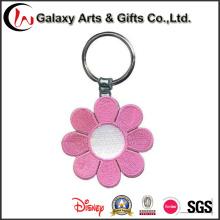Parche bordado de diseño personalizado / llavero bordado de flores