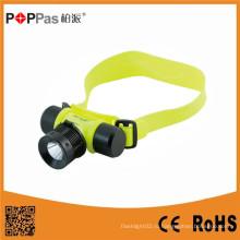 Poppas Ft50 Супер яркий водонепроницаемый Sos Rechargerable Diving Headlamp