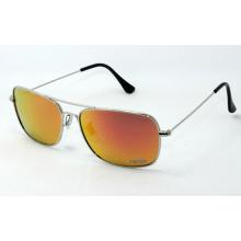 Gafas de sol de metal cuadrado y gafas de venta caliente en EE.UU. (150212FR)