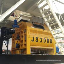 Aplicación de Js Series con Certificado CE Js3000 Twin Horizontal Shaft Concrete Mixer