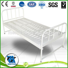 Hospital Manual flat bed with IV Pole for sale