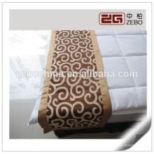100% poliéster Nice Handmanship Hotel Uso Decoração Jacquard tecido Bed Runner