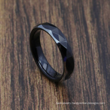 Man Woman 4mm Classic Black Tungsten Rings in Stock