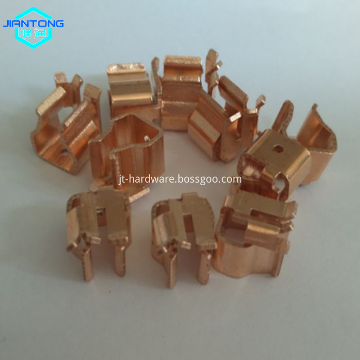 custom copper stamping contact small precision stamping part (2)