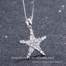 Genuina plata esterlina 925 en forma de estrella colgante de encanto