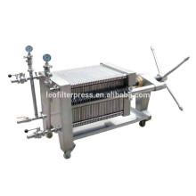 Prensa de filtro Leo Prensa de filtro de placa de acero inoxidable y marco hidráulico