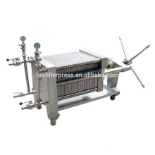 Presse-filtre Leo Plaque en acier inoxydable et cadre filtre hydraulique presse