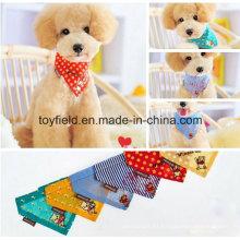 Bandana del perro Bandana del algodón del algodón del triángulo Bandana del animal doméstico