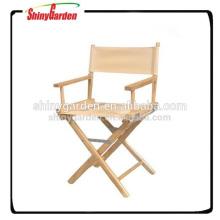 silla alta, silla plegable del director de madera