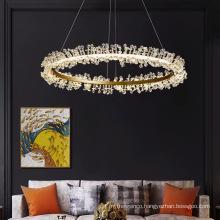 Modern LED Crystal Pendant Lamp Romantic Round Chandelier