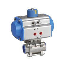 Low Price Pneumatic Actuated Stainless Steel Flanged Ball Valve