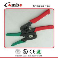 China Fabricación de cable de cable mecánico herramientas de crimpado Cable Ethernet LAN 4P4C 6P6C 8P8C