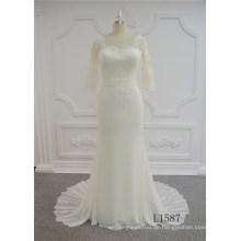 Neueste Mode Kurzarm Brautkleid Meerjungfrau Hochzeitskleid 2017