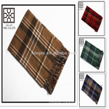 In Stock Wholesale Checked Acrylic Scarf