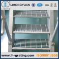 Verzinkte Industrie Stahl Gitter Leiter