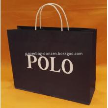 Printed Logo Black Handle Paper Bag