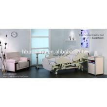 Fabrication de lit d'hôpital électrique de haute qualité à cinq fonctions