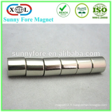 vente chaude magnétisés diamétralement aimant néodyme cylindre