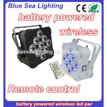 Hochzeit 9x18w rgbwa uv 6in1 drahtlose batteriebetriebene LED par Licht