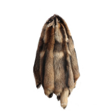 China factory wholesale raccoon dog fur fluffy raccoon fur hides skins with cheap price