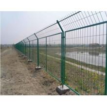 Cercas de malla de alambre de marco recubierto de polvo verde