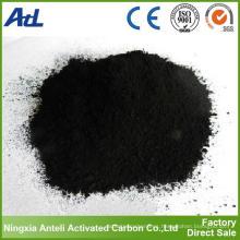 El fabricante suministra polvo de carbón activado de baja ceniza