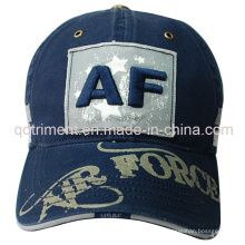 Washed Distressed Printing Applique Embroidery Baseball Cap (TMB1932)