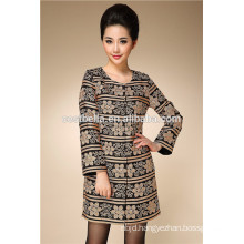 Embroidered OEM high quality fashion design women long trench coat lady trech coat