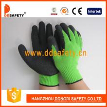 Зеленый Вкладыш Покрытием Черного Латекса Перчатки Dkl814
