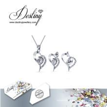 Destiny Jewellery Crystal From Swarovski Heart Crystal Jewellery Set