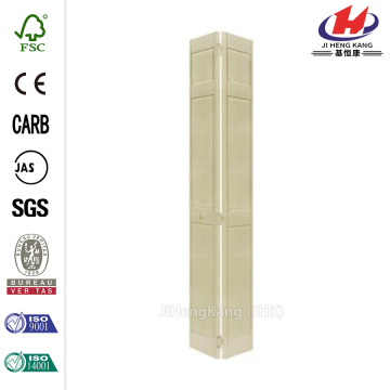Wood Grain Aluminum Coil PVC Interior Bifold Door