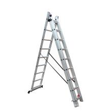 Triple combination extension ladder aluminium 3*9 steps