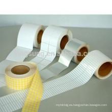precio de fábrica personaliza la etiqueta en blanco etiqueta adhesiva al por mayor
