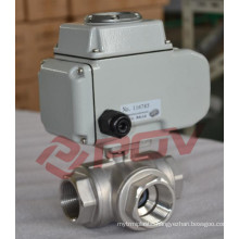 3 way thread dn25 electric motor ball valve
