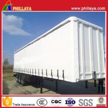 Открытых грузовиков стороне коробки стороне контейнера занавес полуприцеп