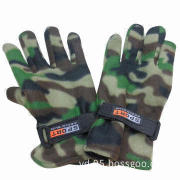 Camouflage with thick winter warm military gloves, customized designs and logos are welcome