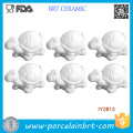 Set of 6 White Unpainted Ceramic Turtle Party Painting
