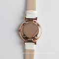 High quality wrist leather watch japan pc21j movement, water resistant watch